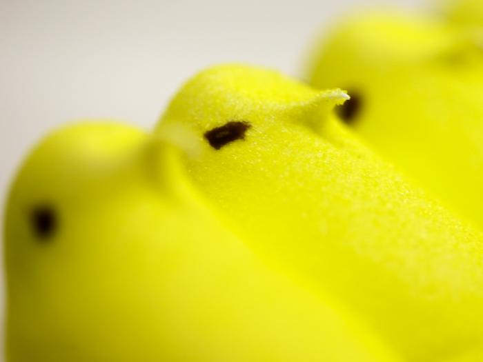 This Feb. 13, 2013 file photo shows Peeps at the Just Born factory in Bethlehem, Pa. Peeps holiday treats are going on hiatus — another consequence of the coronavirus