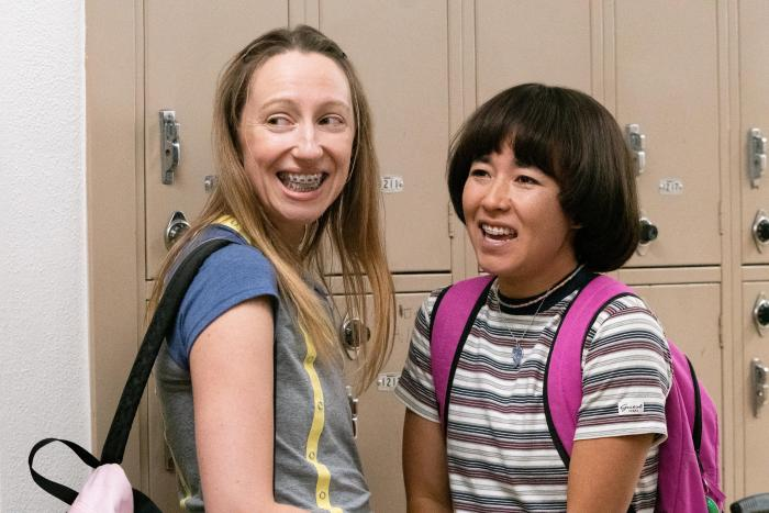 """Anna Konkle, left, and Maya Erskine, right, in a scene from """"PEN15."""""""