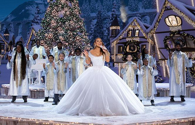 Mariah Carey in her 2020 Christmas special
