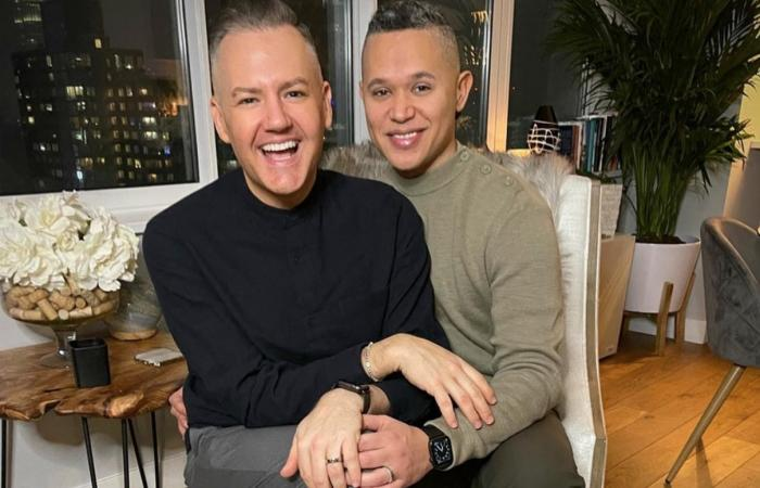 Ross Mathews, left, with his fiancé Dr. Wellington García.