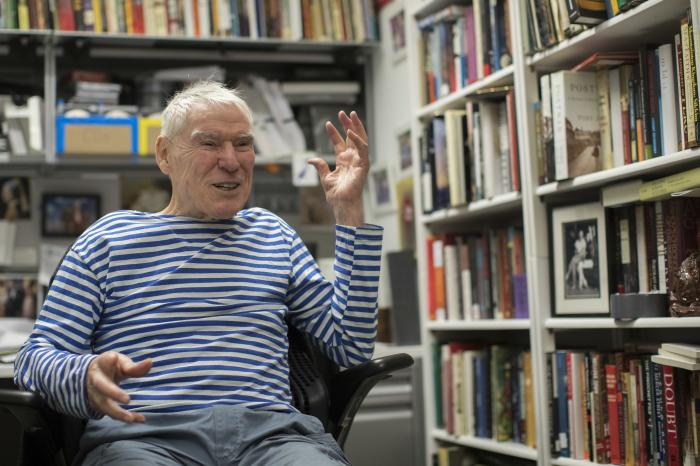 Dancer-choreographer Jacques d'Amboise appears during an interview in his office at the National Dance Institute in New York on March 3, 2018.