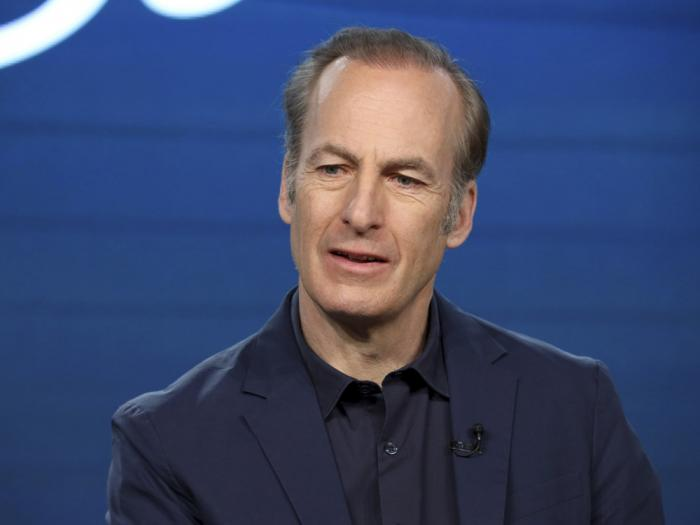 """In this Jan. 16, 2020, file photo, Bob Odenkirk speaks at the AMC's """"Better Call Saul"""" panel during the AMC Networks TCA 2020 Winter Press Tour in Pasadena, Calif."""