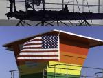 First Look: New Rainbow Lifeguard Tower Erected in Long Beach